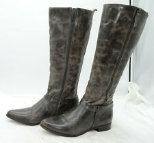 Matisse Wilmer Riding Knee High Distressed Leather Tall Zip Boots Womens Sz 7.5