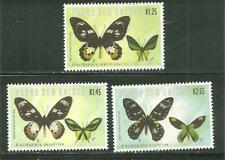PAPUA NEW GUINEA 1041-43 MNH ENDANGERED BUTTERFLIES [2002]