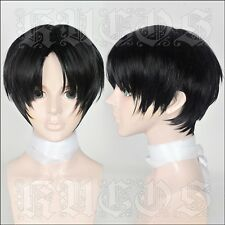 New Japan Anime Killing Tracking Short Black cosplay costume wig + Free shipping