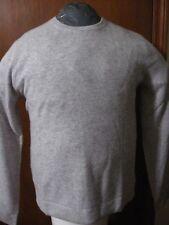 NWT 100% Cashmere Saks Fifth Avenue Men's Crewneck Sweater Knit Top Gray Grey XL