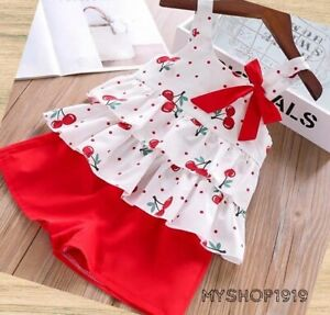 Girls set 2 pcs Top Shorts sets Outfit Kids Summer Set Age 2 3 4 5 6 years