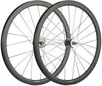 700C Carbon Wheels 38mm Track Bike Front+Rear Carbon Wheelset Fixed Gear Wheels