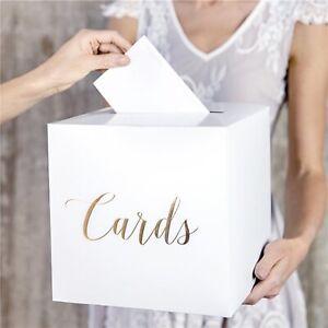 Gold Wedding Card Box wedding box card box