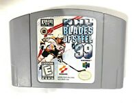 NHL Blades of Steel '99 (Nintendo 64 1999) N64 Game Tested + Working & Authentic