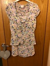 COUNTRY CASUALS PETITE LINED FLORAL SKIRT & FLORAL TOP SIZE 12❤️