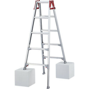 Dual Purpose Aluminium 5 Steps Ladder 131cm to 340cm RYZ15