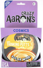SOLAR WIND Crazy Aaron's COSMICS Glow in the Dark Thinking Orange Putty Toy