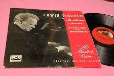 EDWIN FISCHER LP BEETHOVEN PATHETIQUE APPASSIONATA ORIG UK TOP CLASSICA
