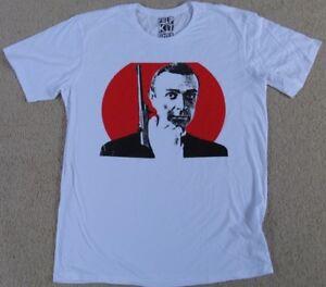 New Mens 007 James Bond Sean Connery The Original 1960s Icon White Cotton TShirt