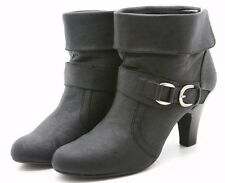 Style & Co Edge Ankle Boots Womens Size 11 Black Belted Cuffed Dress Booties