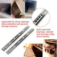 17mm Drawer Runners Ball Bearing Grooved 4 Sizes Metal Kitchen Slides Replace