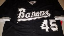 Birmingham Barons Michael Jordan Black Replica Baseball Jersey Mens Size XL
