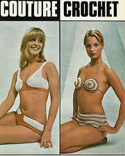 LADIES CROCHET PATTERN VINTAGE BIKINIS LYSBET OR LYSCORDET HOOKS 2.5 & 3.00