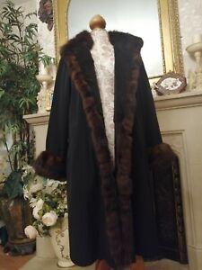 Kolinsky Sable Mink Fur Coat Jacket Uk 10 12 14