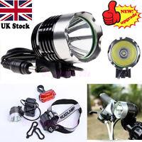 5000Lm CREE XM-L XML T6 LED Bicycle Bike light Head Light Headlamp Rechargeable
