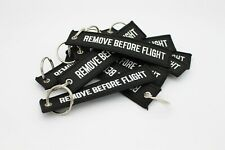 1x Black Remove Before Flight Key chain | Keyring | High Quality | Fast Shipping