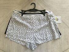 nwt CALVIN KLEIN WOMEN'S 2-PC. WOVEN VENTED-HEM SLEEPING SHORTS: STYLE #QP1187