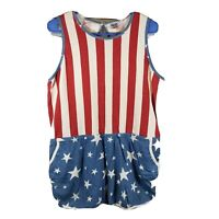 Womans Shorts Jumper Junkfood Size XL Red White and Blue Stars  Pockets
