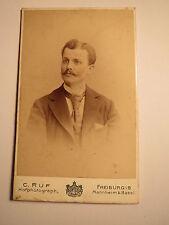 Freiburg i. B. Mannheim Basel - 1897 - Mann im Anzug - Portrait / CDV