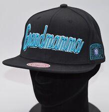 New GRANDMAMA Charlotte Hornets Snapback Hat Larry Johnson Rare Mitchell & Ness