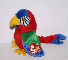 """TY Beanie Baby JABBER PARROT BIRD 6"""" Soft Toy Bean Bag Plush Stuffed 1997 MWMT"""