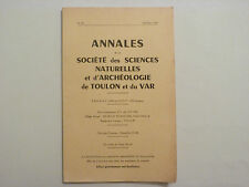 ANNALES DE LA SOCIETE DES SCIENCES NATURELLES ET ARCHÉOLOGIE DE TOULON..  / 1969