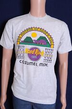 Vintage '80s Hard Rock Cafe An Equinox of Rock'N Roll Cozumel Mex gray t shirt M