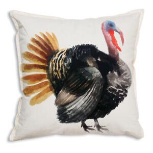 Turkey Cotton Throw Pillow - 18 inch
