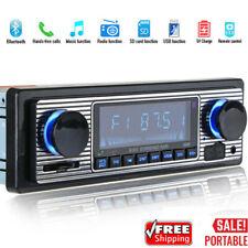 Bluetooth Vintage Car Radio MP3 Player USB Stereo Audio Receiver AUX/FM Radio