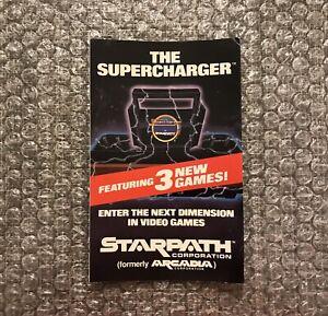 Starpath Corporation / Arcadia The Supercharger Atari 2600 Promotional Insert