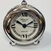 "Chopard ""Happy Day"" Travel Alarm Clock W/ Original Case Swiss Clock CHP12"