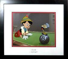 NEW FRAME Disney Sericel Cel Dickie Jones 1940 Hand Signed Original Pinocchio