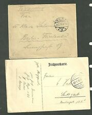 WWI German Feldpostkarte and Cover 1915 Postcard
