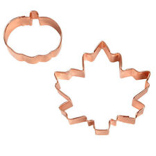Maple Leaf an Pumpkin Copper Platted Cookie Cutter 2 pc Set from Wilton 5011 NEW
