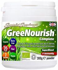 GreeNOurish COMPLETO 100% biologico pasto sostitutivo proteine in polvere Superfood dieta