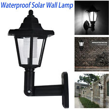 Outdoor LED Solar Power Path Way Wall Landscape Mount Garden Fence Lamp Light AU