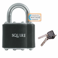 Squire 37 Laminated Padlock 44mm Open Shackle Lock Shed Gate Toolbox Security