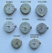 UNIVERSAL GENEVE Lot Woman WRISTWATCH MOVEMENT no Running VULCAIN CAUNY SIGMA