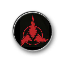 "KLINGON LOGO / 1"" / 25mm pin button / badge / Star Trek / Worf / Next Generation"