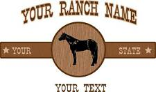 "Custom Quarter Horse Ranch Equestrian Trailer Decal 18"""