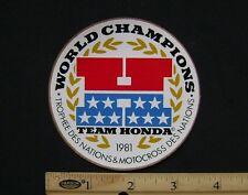 1981 TEAM HONDA MOTOCROSS & TROPHEE DES NATIONS STICKER Decal CR250R CR125R