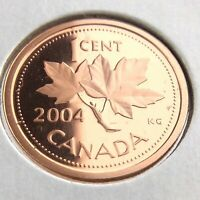 2004 Canada 1 One Cent Penny Proof Uncirculated Canadian Elizabeth II Coin N553
