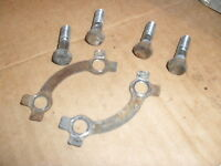 SUZUKI GP100 / 125       FRONT BRAKE DISC MOUNTING BOLTS AND TAB WASHERS