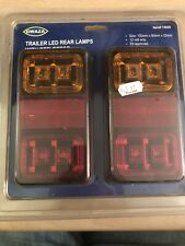 Pair Of Trailer LED Rear lights Lamps With Reflectors 12v