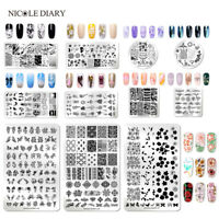 121 Patterns NICOLE DIARY Nail Stamping Plates Stainless Steel Nail Art Tool