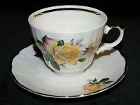 Retsch Wunsiedel Porzellan 3 tlg Kaffee Gedeck Rose Rosen Goldrand Vintage