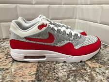 Nike Air Max 1 One Ultra Flyknit University Red Grey White SZ 12 843384-101
