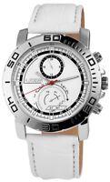 Aerostar Herrenuhr Weiß Silber Chrono-Look Kunst-Leder Armbanduhr X211022000003