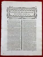 Pologne en 1777 Varsovie Philadelphie USA Général Howe Indépendance Corbreuse