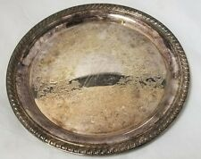 """International Silver Co Silverplated Serving Tray Silver Plated Tea Tray 10.25"""""""